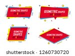 geometric shapes with abstract... | Shutterstock .eps vector #1260730720