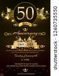 luxury 50th anniversary award... | Shutterstock .eps vector #1260735550