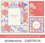 retro  abstract photo frames... | Shutterstock .eps vector #126074114