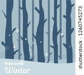 happy winter day  winter day... | Shutterstock .eps vector #1260745273