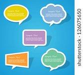 set of colorful paper speech... | Shutterstock .eps vector #126075650