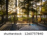 sunset on a patio at the... | Shutterstock . vector #1260757840
