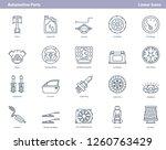vector set of linear black... | Shutterstock .eps vector #1260763429