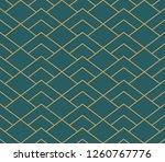 vector ornamental seamless...   Shutterstock .eps vector #1260767776
