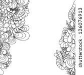 abstract hand drawn pattern ...   Shutterstock . vector #126076913