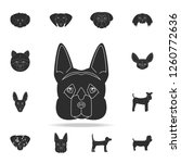 german shepherd face icon.... | Shutterstock . vector #1260772636
