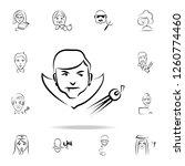 dracula avatar sketch style... | Shutterstock . vector #1260774460