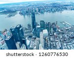 downtown manhattan and jersey... | Shutterstock . vector #1260776530