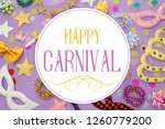 carnival party celebration... | Shutterstock . vector #1260779200
