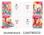 set of pastel bright banners... | Shutterstock .eps vector #1260780523
