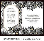 romantic wedding invitation... | Shutterstock . vector #1260782779