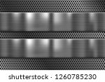 metal plates on perforated... | Shutterstock .eps vector #1260785230
