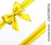 realistic golden  yellow bow....   Shutterstock .eps vector #1260788926