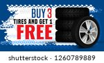vector tire sale out banner... | Shutterstock .eps vector #1260789889