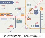 subway map concept illustration.... | Shutterstock .eps vector #1260790336