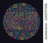 flower power hand drawn... | Shutterstock .eps vector #1260797656