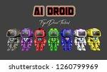 ai robot alphabet | Shutterstock . vector #1260799969