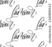 l'amour   love in french ... | Shutterstock .eps vector #1260800413
