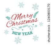 merry christmas lettering. text ... | Shutterstock .eps vector #1260803170