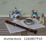 english teacup with saucer ... | Shutterstock . vector #1260807910