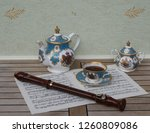 english teacup with saucer ... | Shutterstock . vector #1260809086