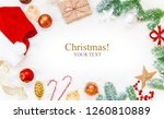 christmas background. happy new ... | Shutterstock . vector #1260810889