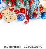 christmas background. happy new ... | Shutterstock . vector #1260810940