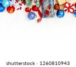 christmas background. happy new ... | Shutterstock . vector #1260810943