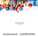 christmas background. happy new ... | Shutterstock . vector #1260810946