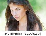 portrait of beautiful young... | Shutterstock . vector #126081194