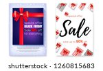 set of poster for events of... | Shutterstock .eps vector #1260815683