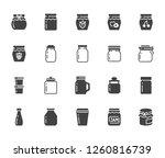 bottle of jam flat glyph icons. ... | Shutterstock .eps vector #1260816739