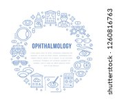 ophthalmology  eyes health care ... | Shutterstock .eps vector #1260816763