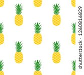 pineapple seamless pattern.... | Shutterstock . vector #1260816829