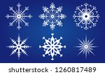 snowflake icon set. snow flake... | Shutterstock . vector #1260817489