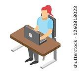 flat icon design of online... | Shutterstock .eps vector #1260818023