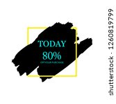 sale today 80  off sign in... | Shutterstock .eps vector #1260819799