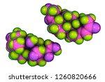 molecule of aldosterone hormone ...   Shutterstock . vector #1260820666