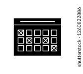 timetable black vector concept... | Shutterstock .eps vector #1260822886