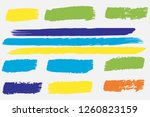 collection of hand drawn... | Shutterstock .eps vector #1260823159
