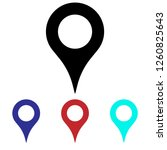 location icon vector. map pin