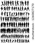 vector isolated  set silhouette ... | Shutterstock .eps vector #1260827170