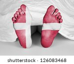dead body under a white sheet ...   Shutterstock . vector #126083468