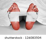 dead body under a white sheet ...   Shutterstock . vector #126083504