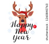 happy new year. lettering with... | Shutterstock .eps vector #1260840763