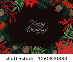 horizontal frame or border made ... | Shutterstock .eps vector #1260840883