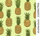 pineapples seamless pattern....   Shutterstock .eps vector #1260847906