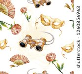 Watercolor Pattern  Theatrical...