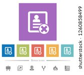 cancel contact flat white icons ...   Shutterstock .eps vector #1260858499