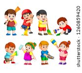 vector illustration of a group... | Shutterstock .eps vector #1260859420